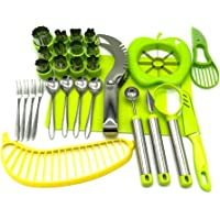 Vegetable Fruit Cutter Shapes Carving Tools Set - 29 pieces - 12 Cute Mini Cookie Cutting Stamps Moulds Flower Heart…