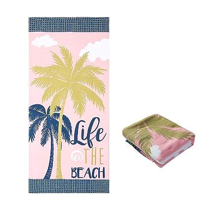Jingmu Large Square Beach Towel Blanket Big Beach Blanket 30 x 60 Outdoor Swim Microfiber Towel Thick Yoga Mat Personalized Women Girls Men Adults