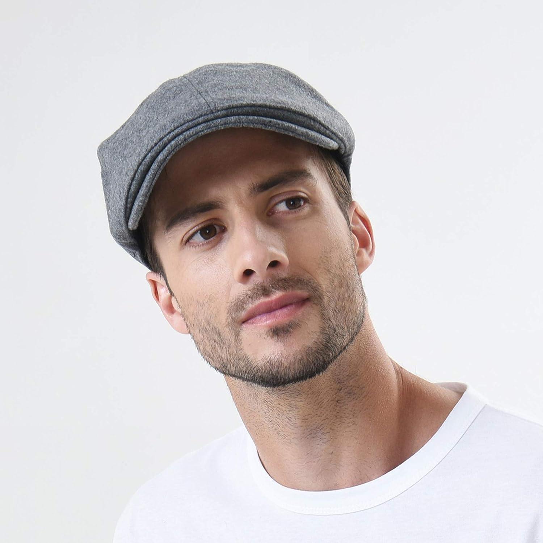 WITHMOONS Wool Newsboy Hat Flat Cap SL3021