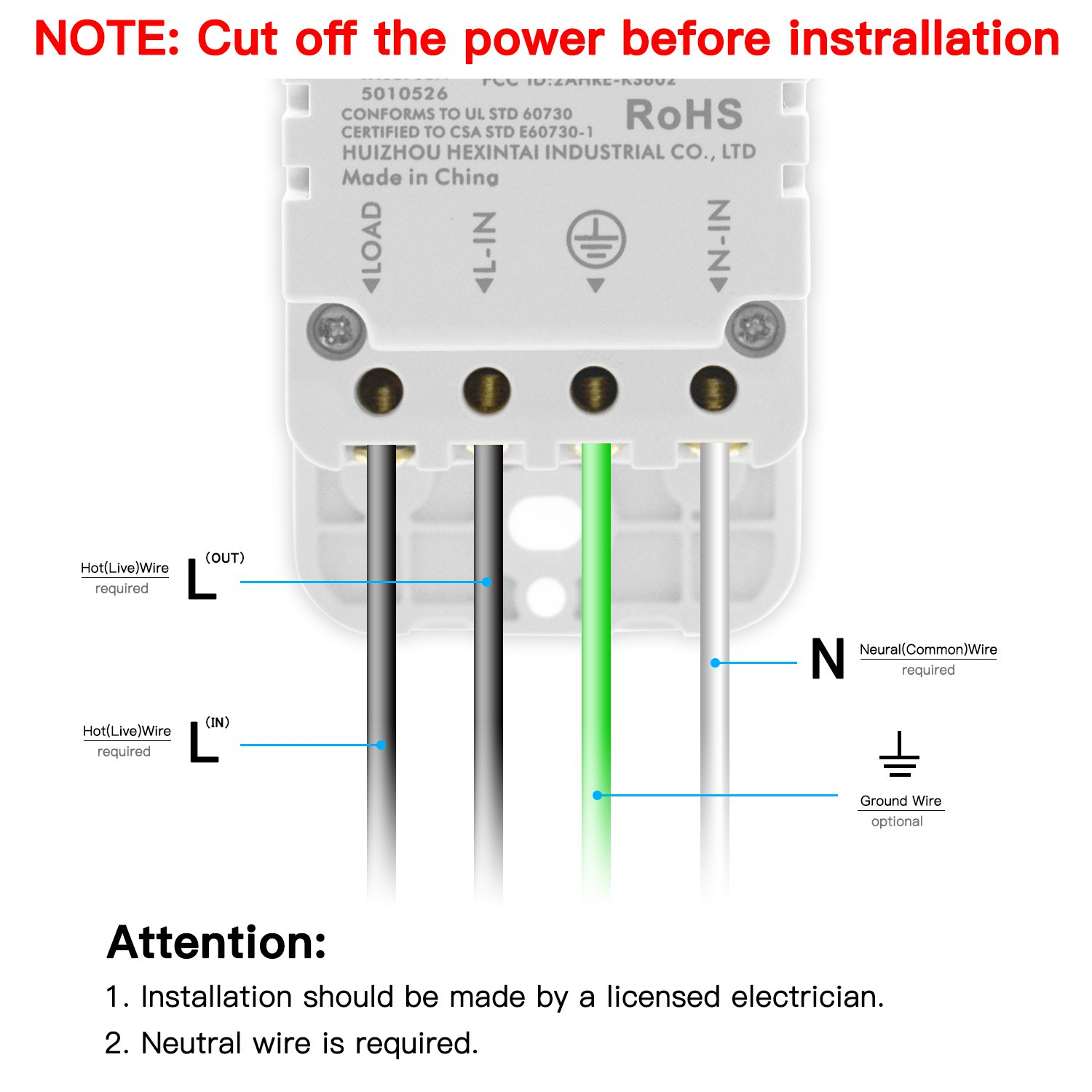 Attractive No Neutral Wire In Light Switch Images - Best Images for ...