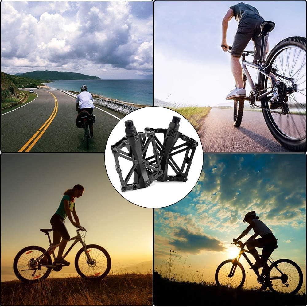 WELLXUNK Bicycle Cycling Pedals Antiskid Pedals Bike Pedals Aluminum Bicycle Pedals Aluminum Pedals BMX Pedals,Aluminum Antiskid Pedalsfor Road,Mountain,MTB,BMX Bike