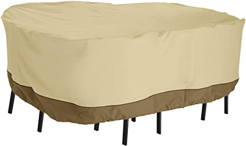 Classic Accessories 55-907-041501-00 Veranda Water-Resistant 108 Inch Rectangular Patio Bar Table Chair Set Cover,Large
