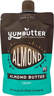 product image for Creamy Almond Butter by Yumbutter, Gluten Free, Vegan, Non GMO, 6.2oz Pouch