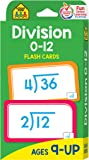 Image for School Zone - Division 0-12 Flash Cards - Ages 9 and Up, 3rd Grade, 4th Grade, Math Equations, Division Practice…