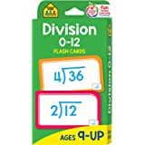School Zone - Division 0-12 Flash Cards - Ages 9 and Up, 3rd Grade, 4th Grade, Math Equations, Division Practice, Dividends,