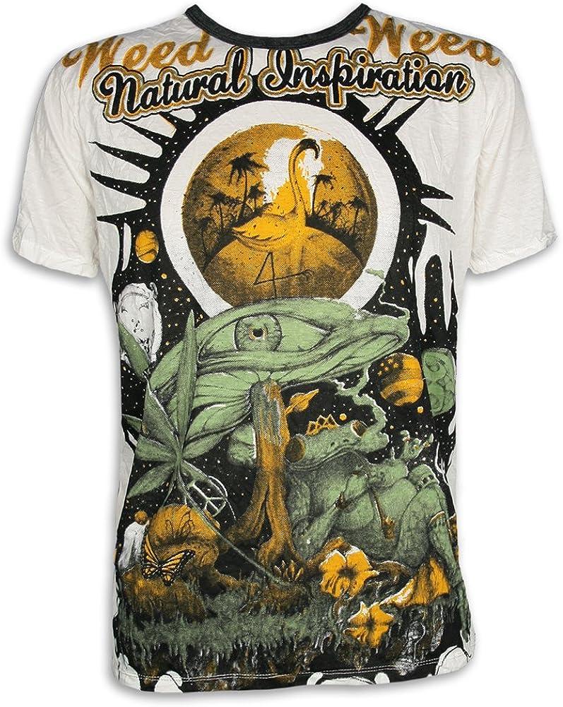 Weed Camiseta Hombre Mundos de Ensueño: Amazon.es: Ropa y accesorios