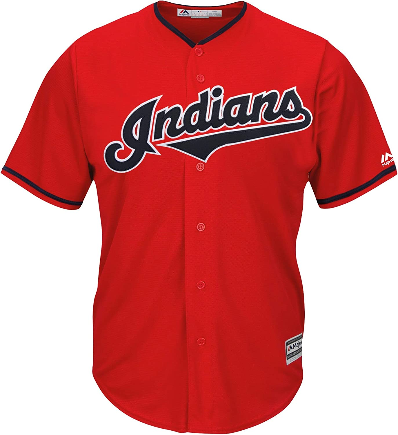Francisco Lindor Cleveland Indians Youth 8-20 Red Alternate Cool Base Replica Jersey