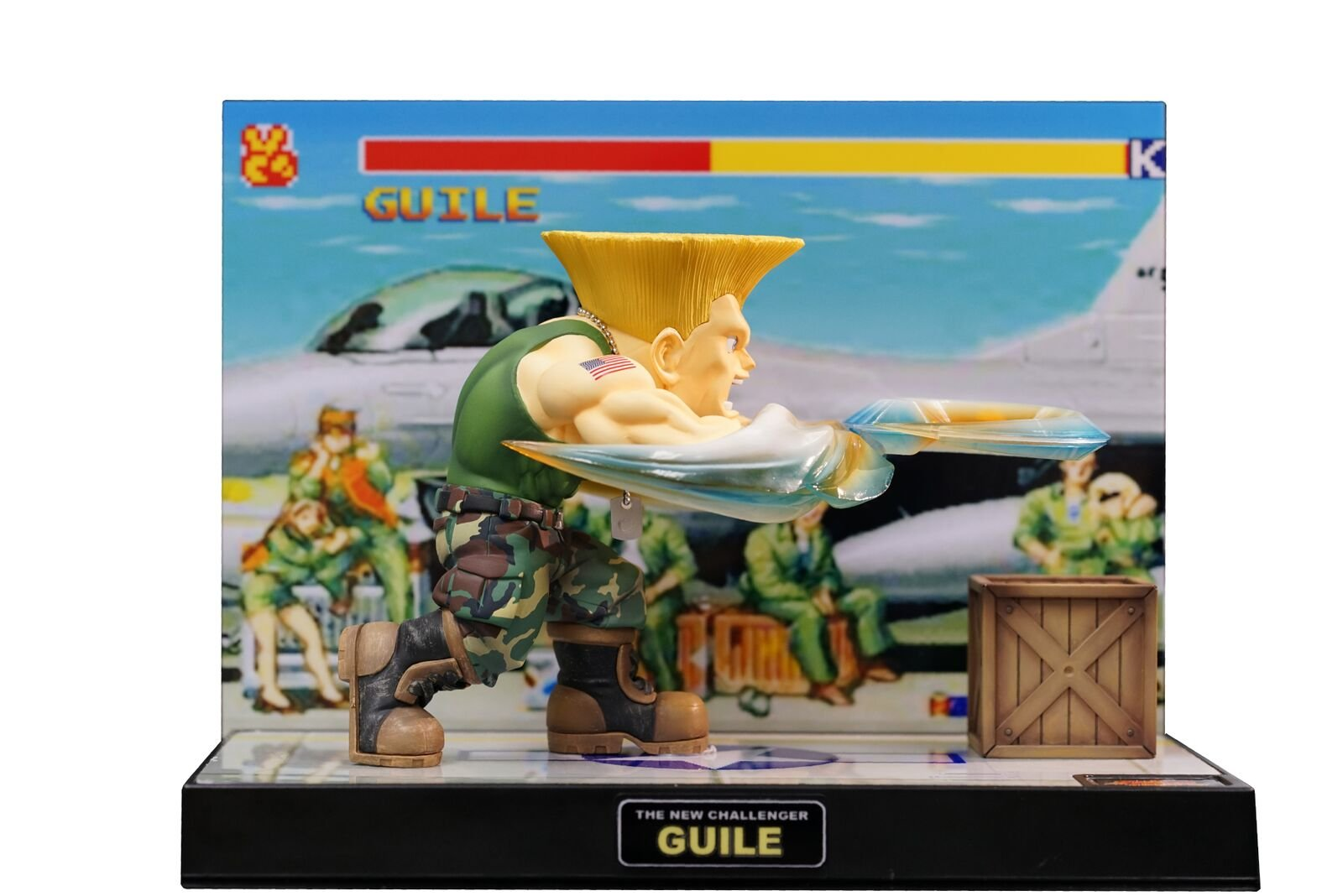 Tier1 Accessories Guile Street Fighter Fully Licensed Led Sight and Sound Figure - PlayStation 3; PlayStation 2; PlayStation