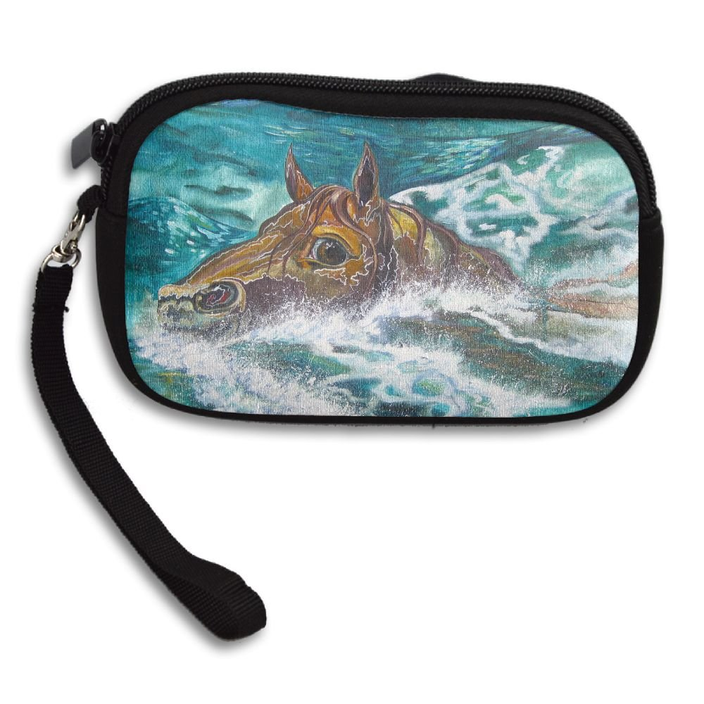 The Mare Swimming In The Deep Ocean Original Deluxe Printing Small Purse Portable Receiving Bag