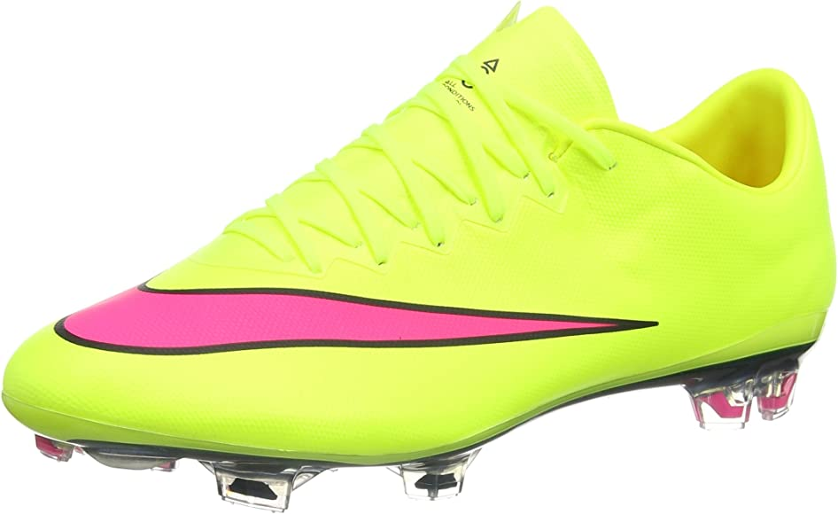 9bee10ad9 Nike Mercurial Vapor X FG Men's Firm-Ground Soccer Cleat (12) Volt/