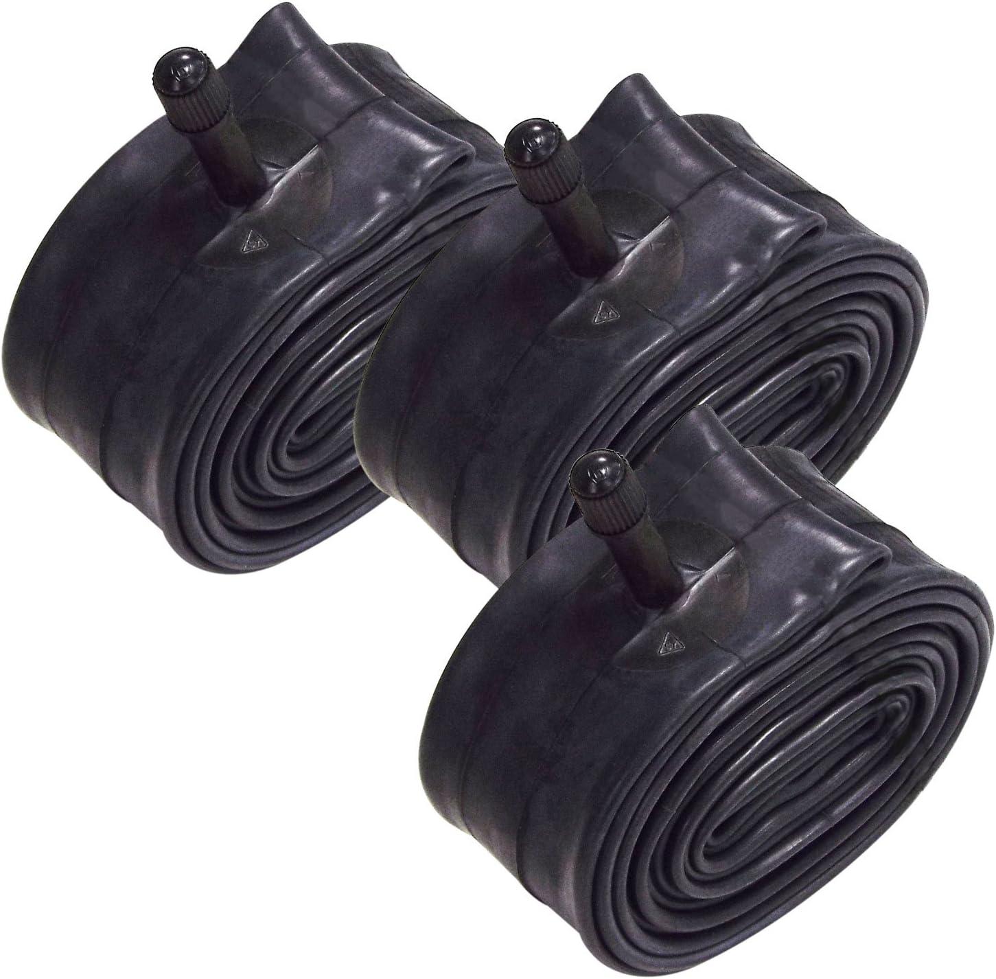 VeloChampion Paquete de 3 Tubos Interiores MTB 26 x 1.75/2.125 Pulgadas con válvula Presta/Schrader 36 mm (26