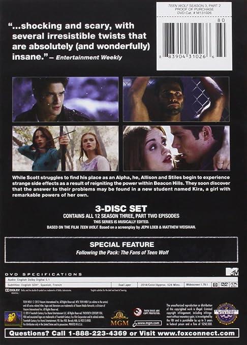 Amazon.com: Teen Wolf Season 3 Part 2: Tyler Posey, Dylan O'Brien, Tyler  Hoechlin, Crystal Reed, Holland Roden: Movies & TV