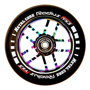 Metal Core Rueda Radius para Scooter Freestyle, Diámetro 120 mm (Rainbow): Amazon.es: Deportes y aire libre