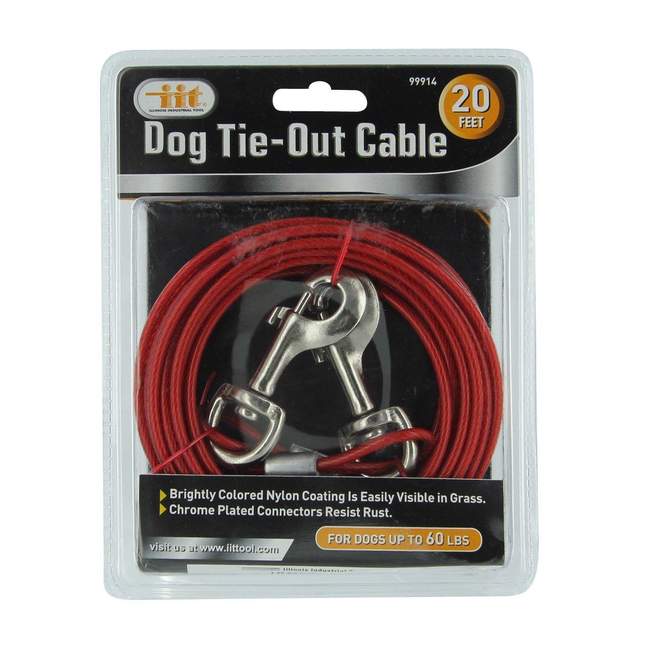 amazon com iit 99914 dog tie out cable 20 feet iit pet tie