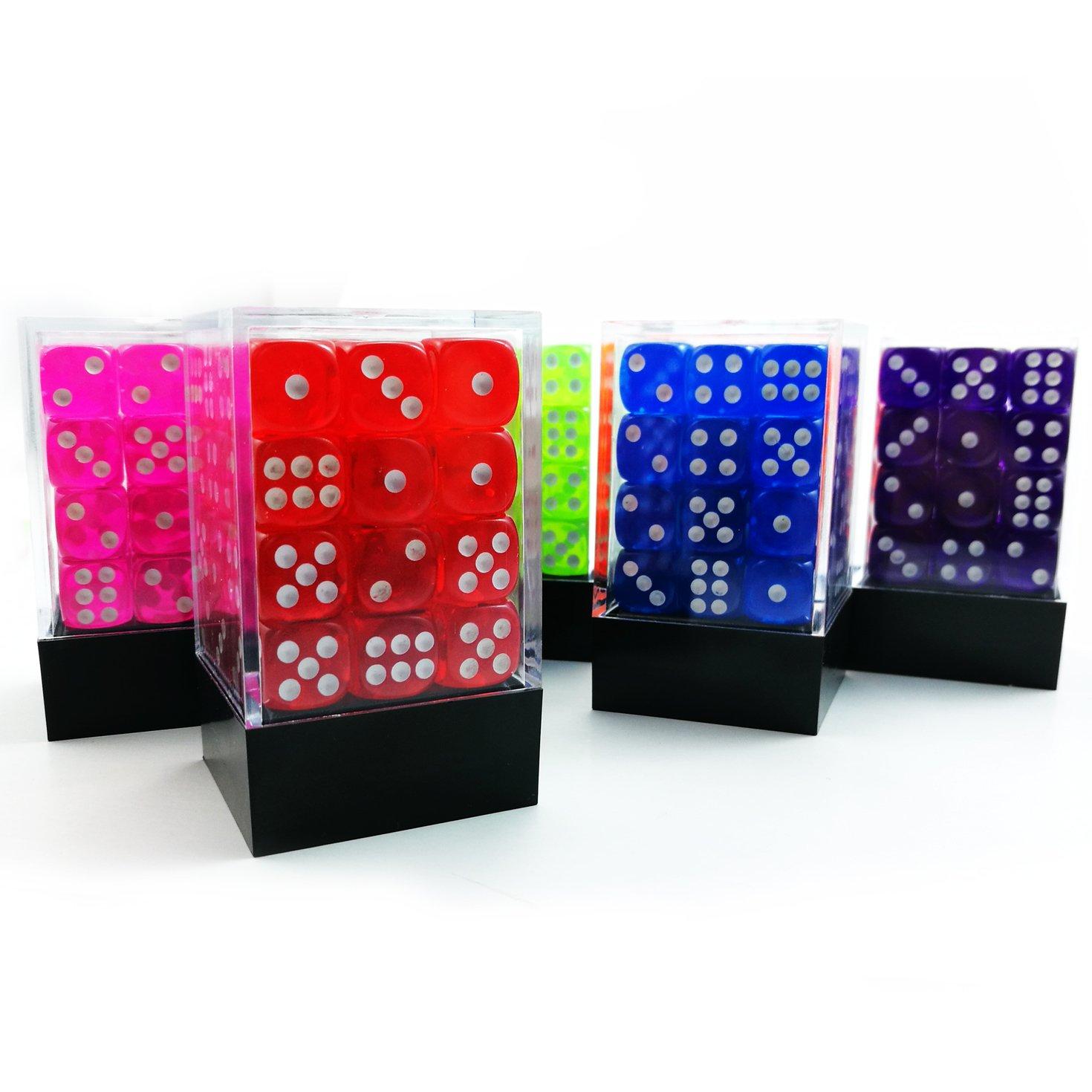 Clear Plastic Dice Box Brick Dice Case 5pcs Set Classic Brick Box for RPG Dice Dice Packaging Transparent Brick Dice Box
