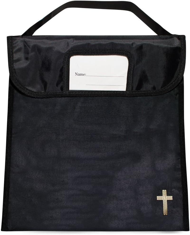 Music Bag with Cross Book Bag Bible Bag