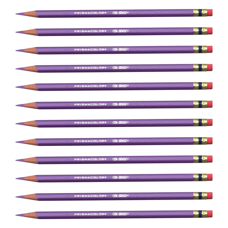 Prismacolor Col-Erase Erasable docena Colored Pencils, lavanda (20062), docena Erasable a87250
