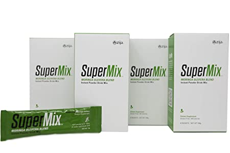 Zija SuperMix Moringa Oliefera Blend Organic Probiotic Detox Dietary Supplement for Weight Loss, Cleanse, and Energy 32 Packets per Case 15 oz 416g