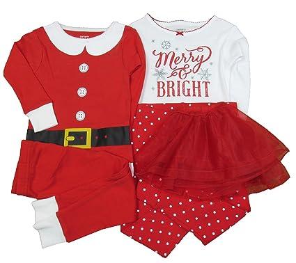 714f61ebf9a7 Amazon.com  Carter s Baby Girls Christmas Santa Suit 5 Pc Mixed Set ...