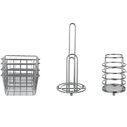 Amazon.com: Mainstays Wire Kitchen Storage Organization Bundle, Wire on ideal living room, ideal toys, ideal tools,