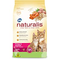 Gatos Frango e Vegetais, Adultos Naturalis Raça Adulto, Sabor Frango 1kg