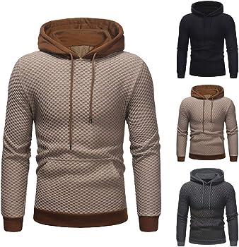 iHENGH Sweat /à Capuche /à Capuche /à Manches Longues pour Hommes Top Tee Outwear Blouse