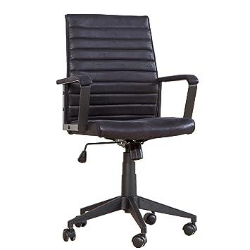 Moderner Design Bürostuhl LAZIO Mikrofaser schwarz Chefsessel mit ...