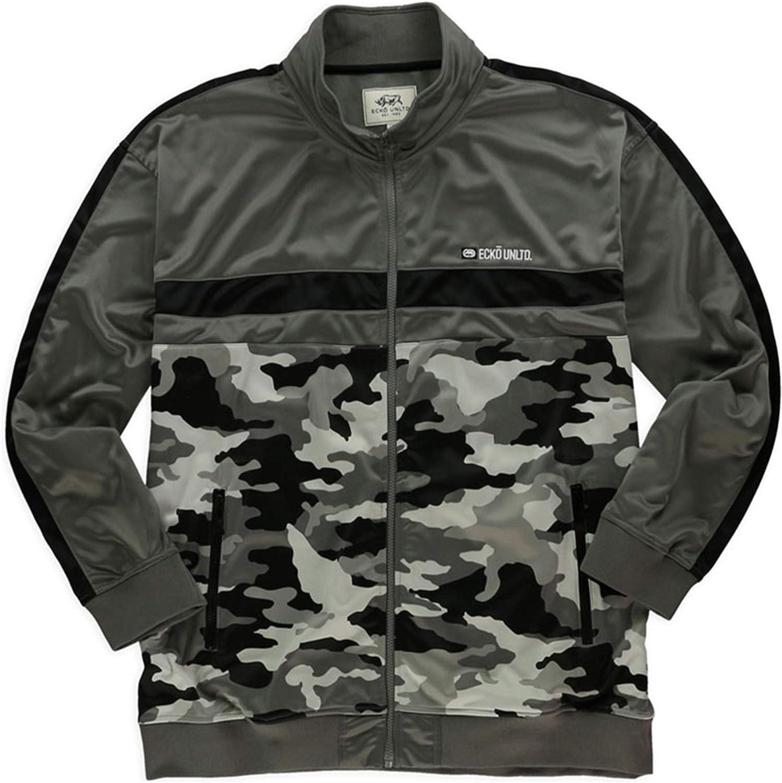 Ecko Unltd. Mens Camo Track Jacket, Grey, X-Small: Clothing
