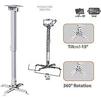 Vistaratrade Heavy Duty - 2 (1+1) feet Universal Projector Ceiling Mount Bracket - White