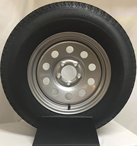 "<br/>Wheels Express Inc 15"" Silver Mod Trailer Wheel with Radial ST205/75R15 Tire Mounted"