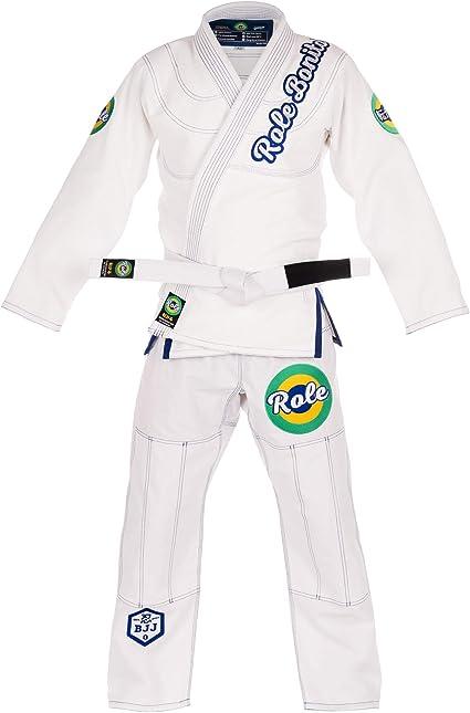 BJJ Gi Role Bonito Kimono de JJB L/éger Blanc