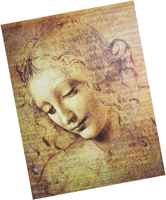 Famous Oil Painting Leonardo Da Vinci La Scapigliata Jigsaw Puzzle 1500 Pieces for Adults and Kids DIY Wall Art Home Decor Challenging Puzzle Game