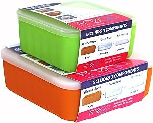 Frego Glass Food Storage, Orange