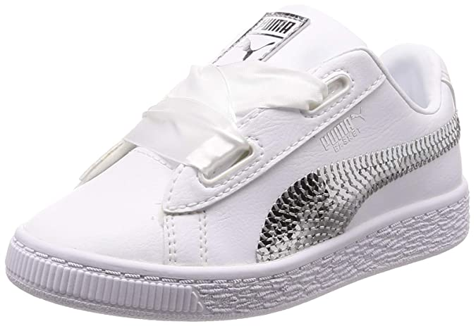 Puma Basket Heart Bling PS, Sneakers Basses Fille