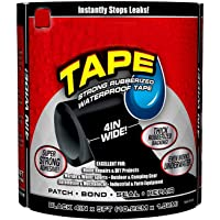 Hayan PVC Rubberized Waterproof Flex Seal Strong Adhesive Sealant Tape for Any Surface , Stops Leaks Like Garden Hose Pipe Water Bonding Kitchen Sink Toilet Tub Water Tank (Large, Black)