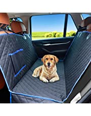 CRAZYLYNX Dog Car Seat Cover Waterproof Scratch Proof Non-slip Back/blue Seat Pet Protection Dog Travel Hammock 148cm X 138cm for All Cars