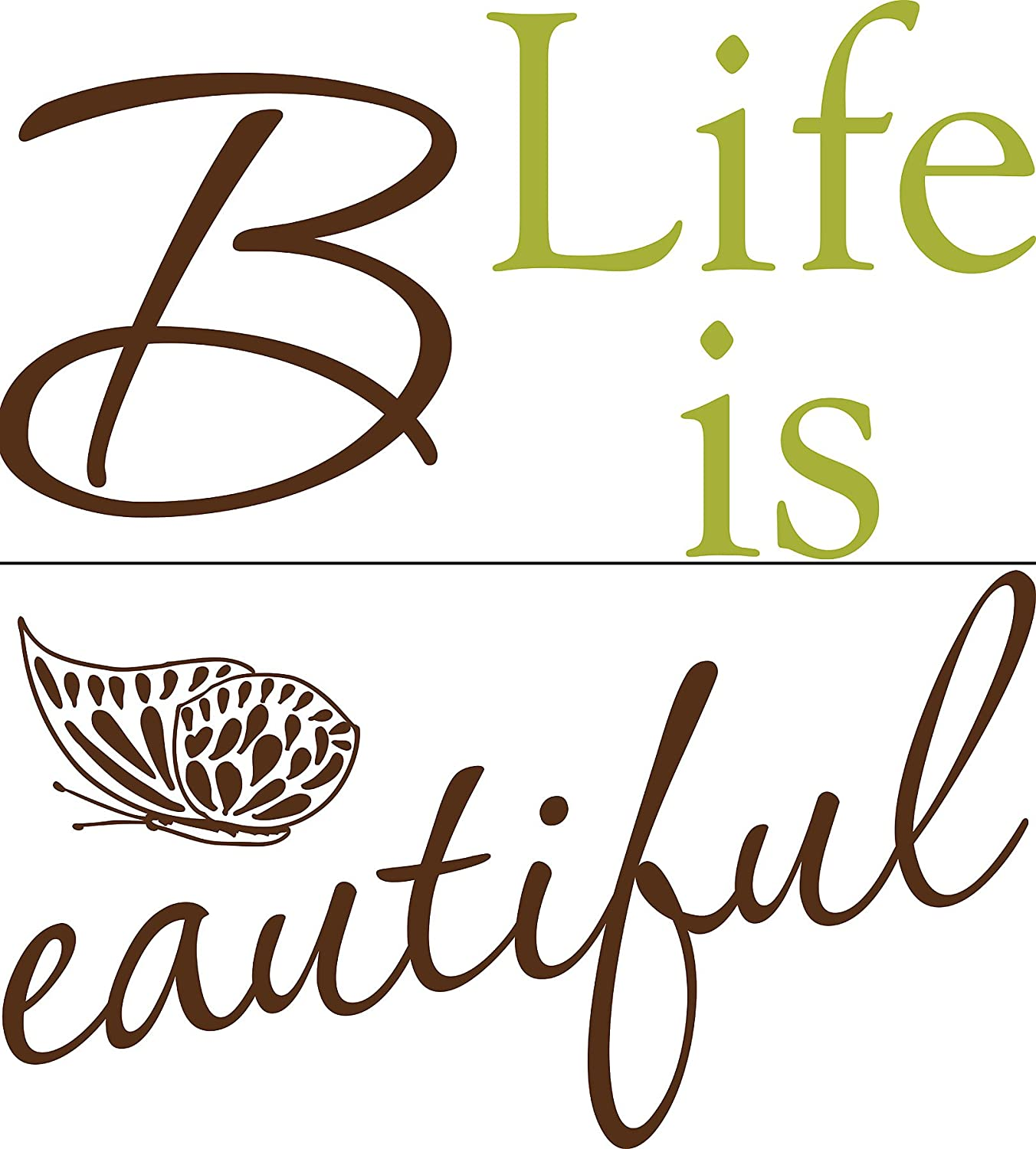 Wallpops self adhesive wall words life is beautiful amazon co uk kitchen home