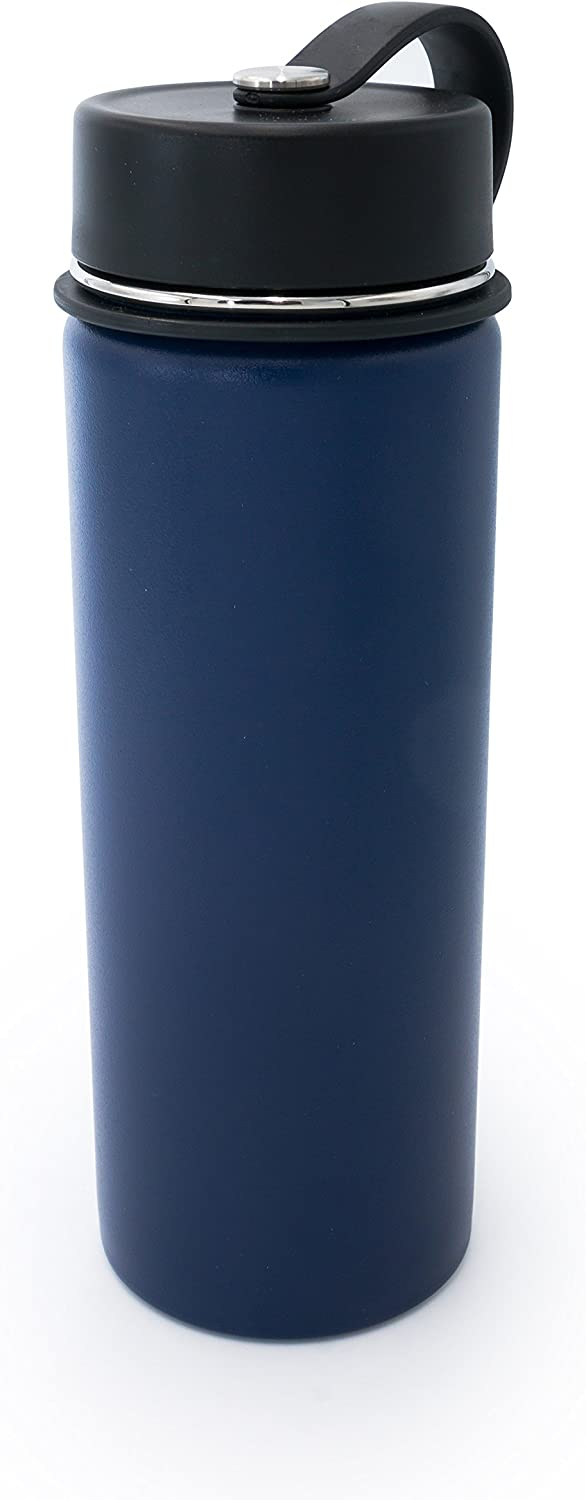 Blue Tahoe Trails 20 oz Double Wall Vacuum Insulated Stainless Steel Water Bottle
