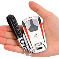 GNMBINC for Audi Key Fob Cover, Modified Racing Style Painting Key Case Cover Compatible with Audi A4 A5 Q7 Q5 TT A3 A6…