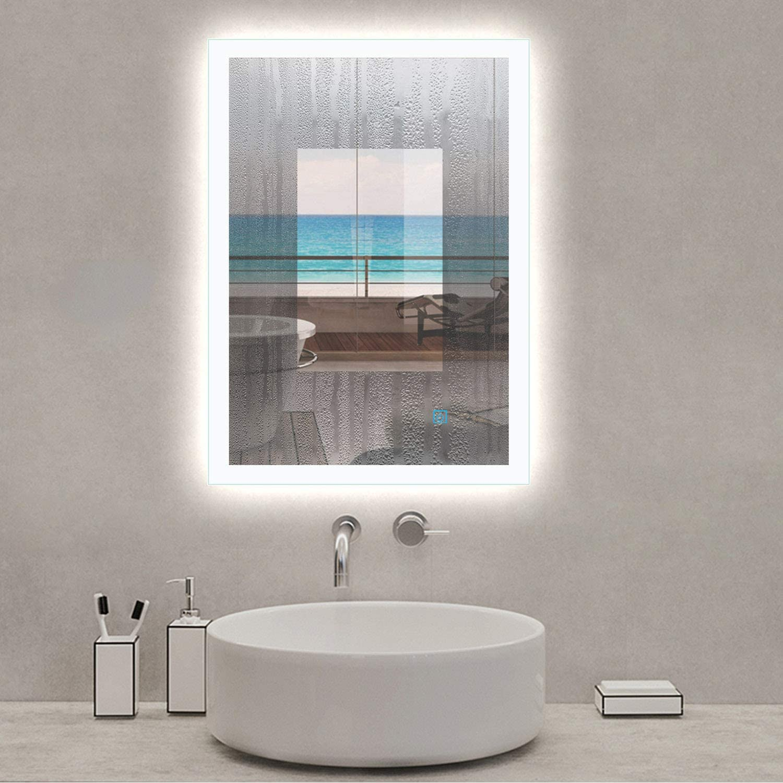 AICA SANITARIOS 50x70cm Tallas Grandes Espejo led baño Rectangular ...