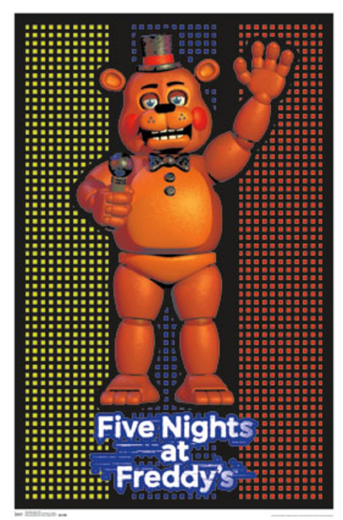 Five Nights At Freddys Video Gaming Blacklight Poster 24x36 Trends International