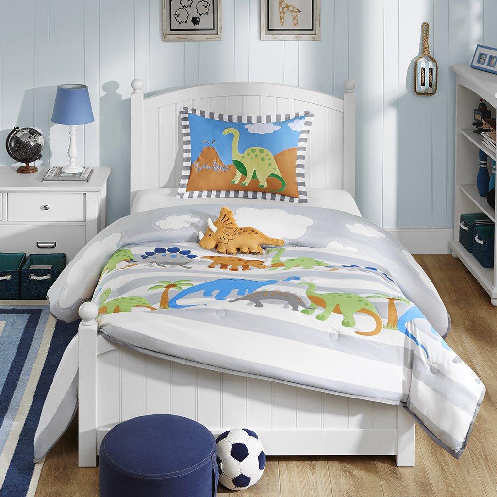 Amazoncom Mi Zone kids Dinosaur Dreams Comforter Set Grey