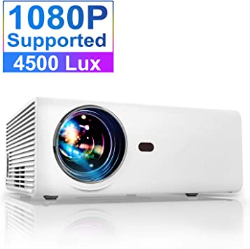 Proyector, YABER Proyector Portátil Soporte Full HD 1080p, Mini ...
