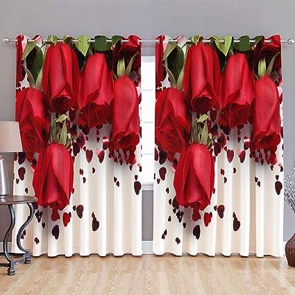 Buy Homecrust Fabric Roses 3d 4 X 7 Ft Door Curtain Multi Coloured 2