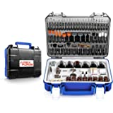 """Rotary Tool Accessories Kit, APEXFORGE 357 Pieces 1/8""""(3.2mm) Diameter Shanks Universal Fitment for Easy Grinding, Sanding, S"""