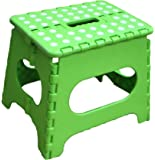 Jeronic 11-Inch Plastic Folding Step Stool, Green