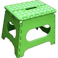 Jeronic - Taburete Plegable para Adultos y niños, de 28 cm, Resistente, para Cocina, Taburete de Escalar de jardín, con Capacidad para hasta 136 kg