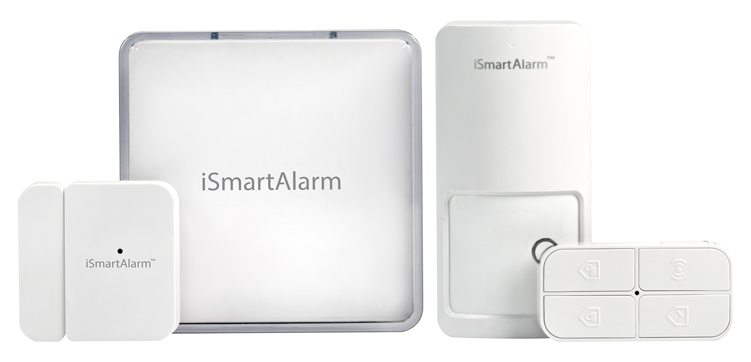 iSmartAlarm Apartment Security Package | Wireless DIY No Fee IFTTT & Alexa Compatible iOS & Android App | iSA1, White