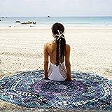 ONEPACK Indian Mandala Round Roundie Beach Throw Tapestry Hippy Boho Gypsy Cotton Tablecloth Beach Towel Round Yoga Mat