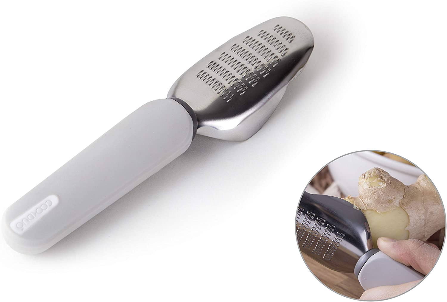 COOKDUO Peel & Grate - Ginger peeler with grater (grey)